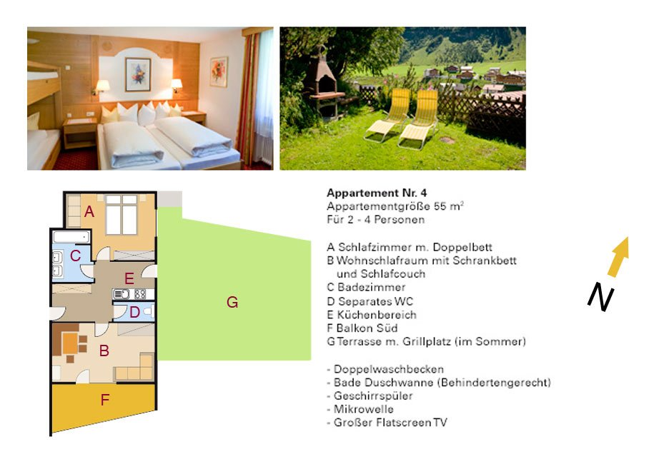 Appartement Nummer 4 - Appartements Andera - Lech am Arlberg
