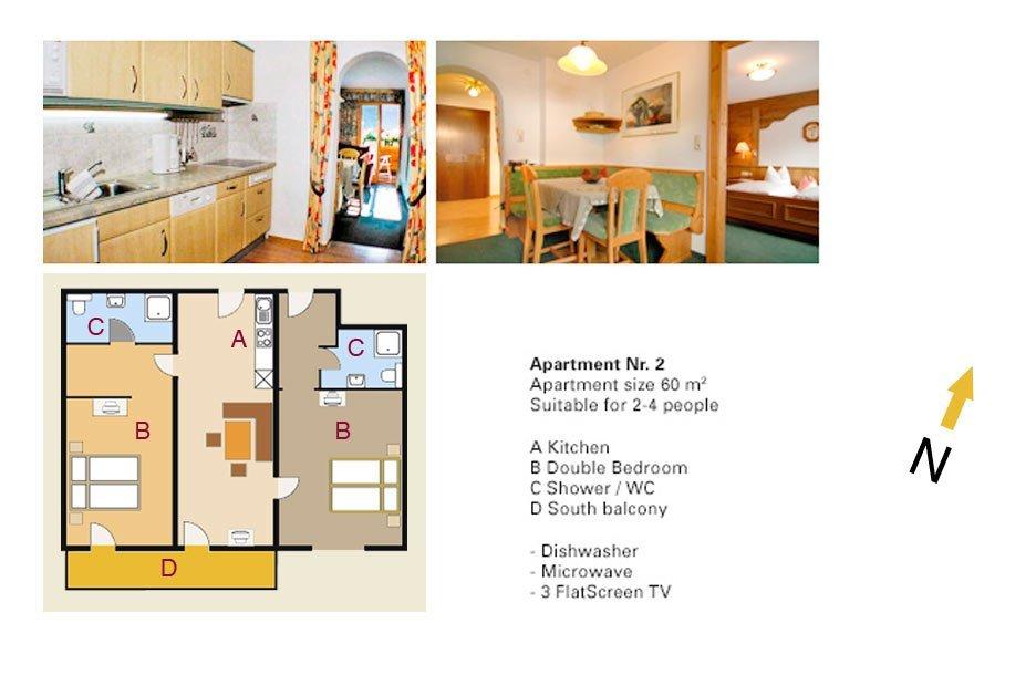 Lodging Apartment No. 2 - Apartments Andera - Lech Zürs am Arlberg