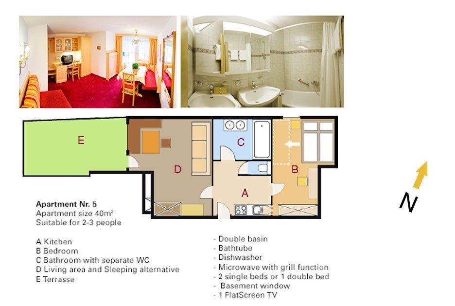 Lodging Apartment No. 5 - Apartments Andera - Lech Zürs am Arlberg