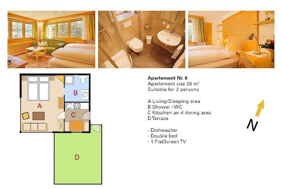 Lodging Apartment No. 6 - Apartments Andera - Lech Zürs am Arlberg