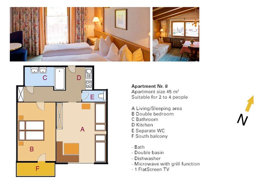 Lodging Apartment No. 8 - Apartments Andera - Lech Zürs am Arlberg