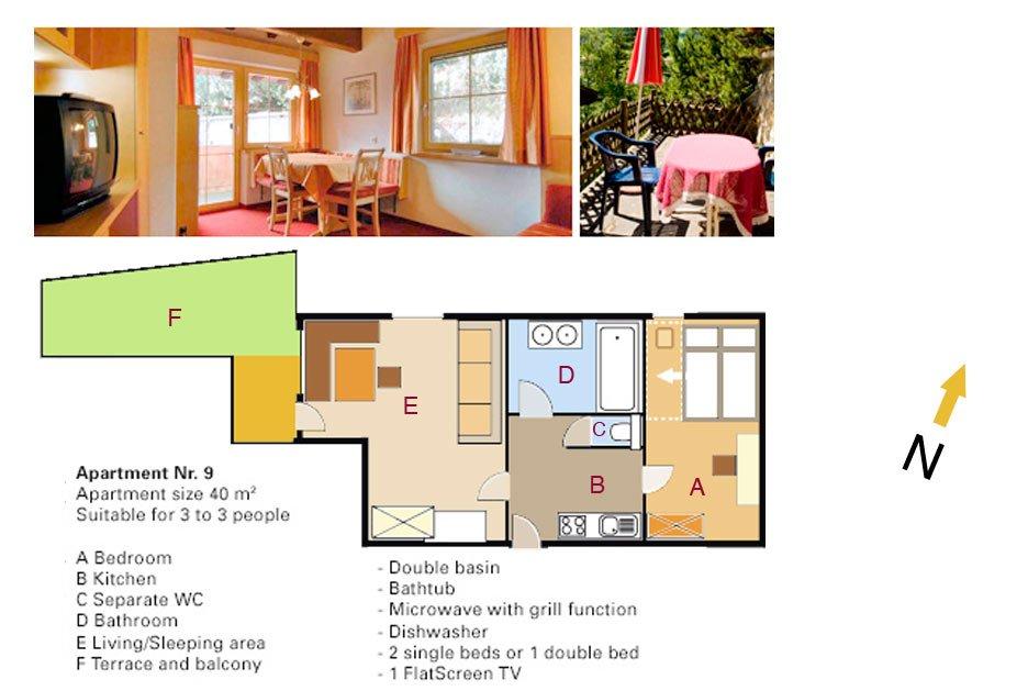 Lodging Apartment No. 9 - Apartments Andera - Lech Zürs am Arlberg