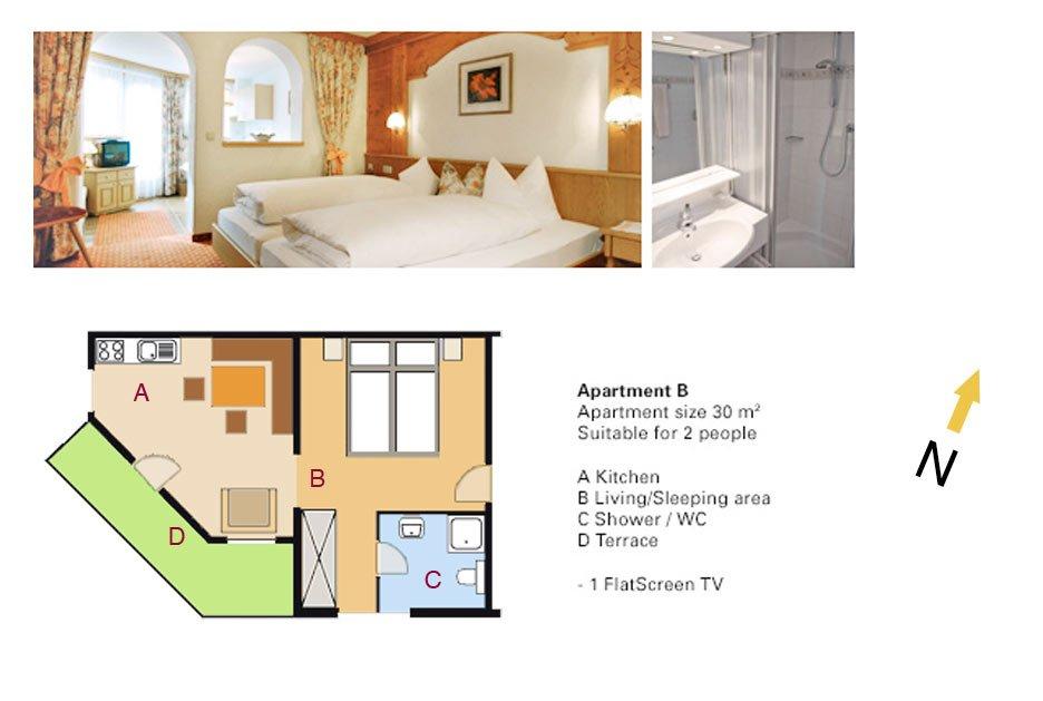 Lodging Apartment No. B - Apartments Andera - Lech Zürs am Arlberg